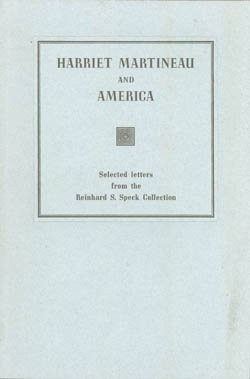 Harriet-Martineau-and-America-Selected-Letters-from-the-Reinhard-S-Speck-Collection-Keepsakes-B000IZDZY0